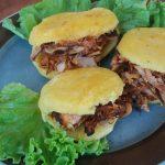 Arepas veganas con pulled pork de Bio Jackfruit
