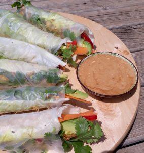Rollitos arroz vietnamesas