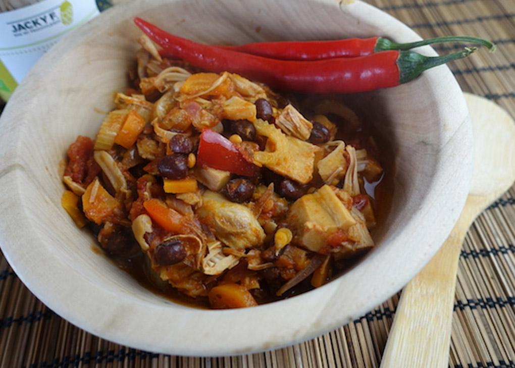 Chili sin carne de Bio Jackfruit