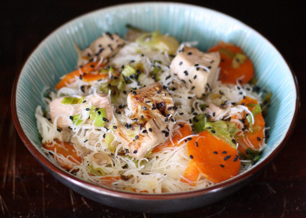 Fideos de arroz con Bio Jackfruit