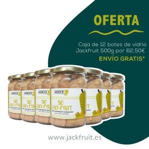 oferta caja bio jackfruit 12 botes de vidrio