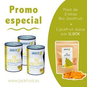 3 latas bio jackfruit más jackfruit dulce seca