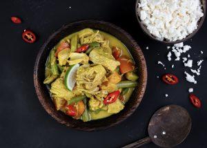 Curry de Jackfruit con arroz de coliflor