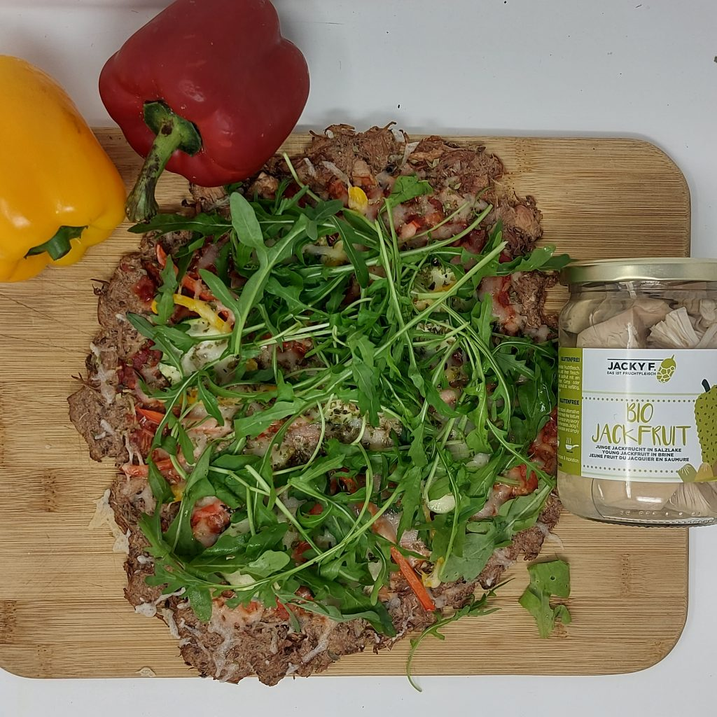 pizza jackfruit low carb