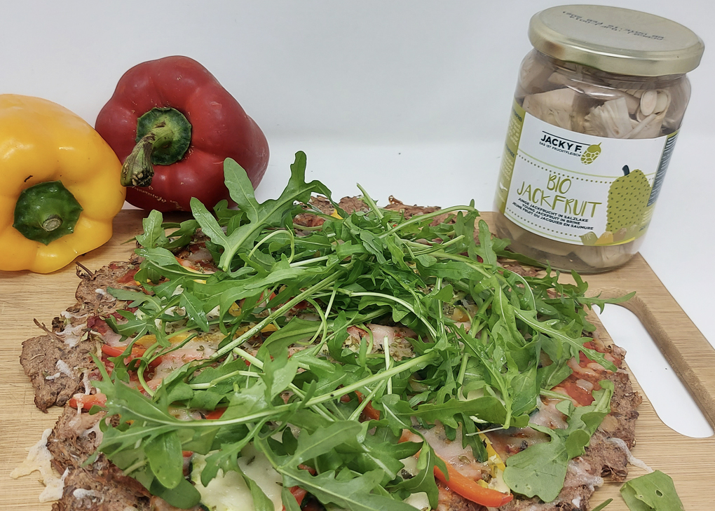 receta pizza jackfruit