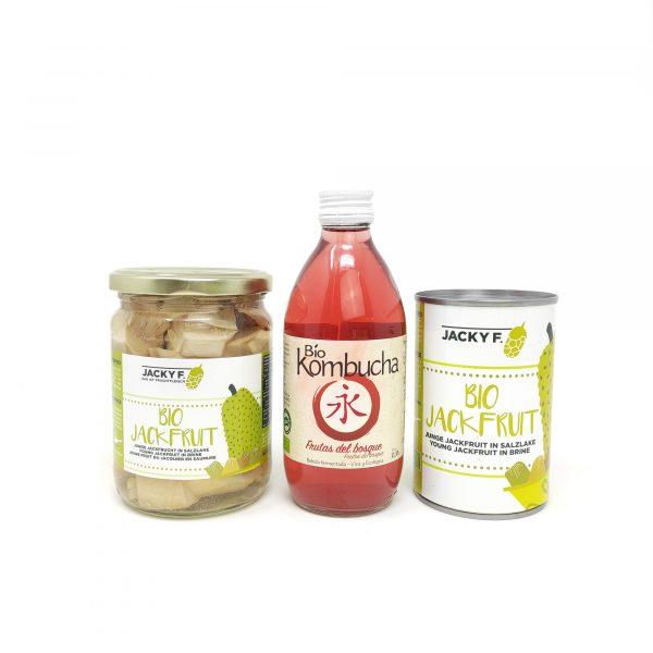 Set Lata y Bote Bio Jackfruit + REGALO Bio Kombucha 0,33l frutos rojos
