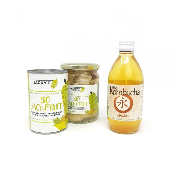 Set Lata y Bote Bio Jackfruit + REGALO Bio Kombucha 0,33l