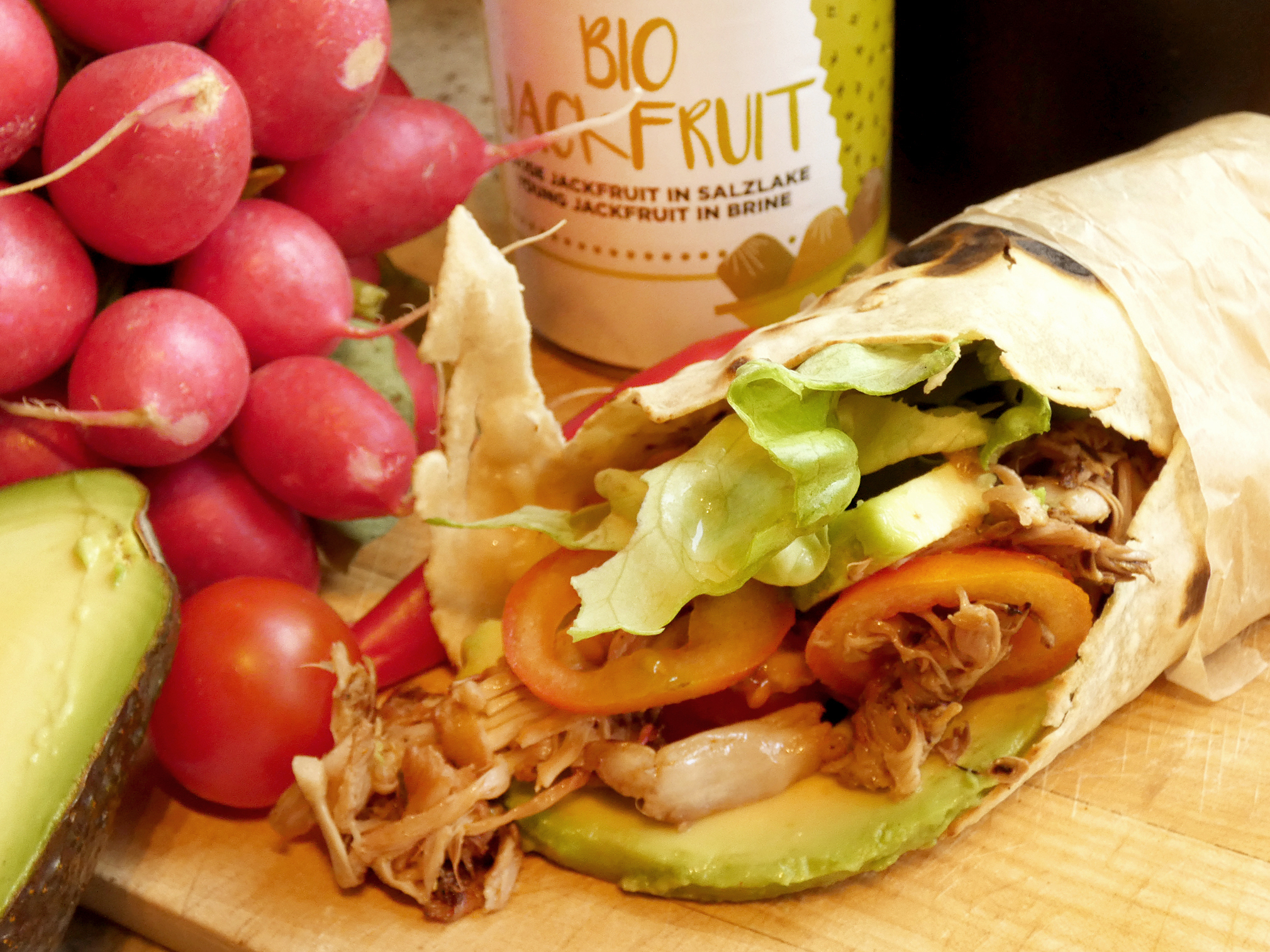 burritos jackfruit receta